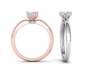 6 Claws Solitaire ring for 5mm stone printable 3dmodel
