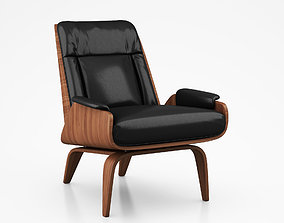 Paulo Bent Ply Leather Chair by West Elm 3D