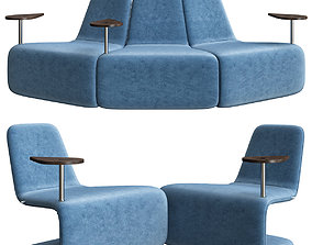 3D model Anne Linde URBAN LOUNGE WITH TABLE