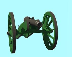 3D model Artillery 8 pound Gun 18th century