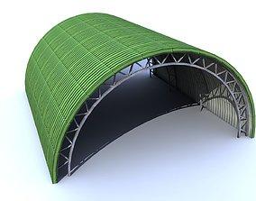 Aircraft low poly - Shelter Hangar 3D model