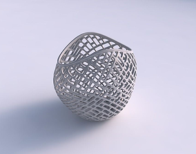 Bowl compressed 3 with lattice tiles 3D printable model