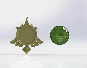 3D printable model Genshin Impact Elemental amulet - 4