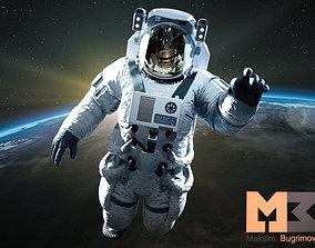 Astronaut 3D model animated VR / AR ready