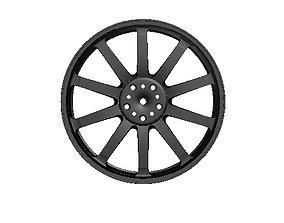 3D Sports Car Wheel Rim