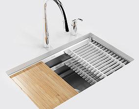 3D model Kitchen sink Prolific 29 inch