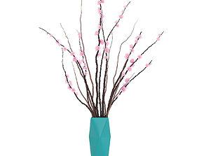 Sakura in a vase 3D model