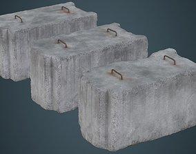 Concrete Barrier 5C 3D asset