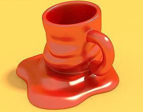 Melted Mug 3D print model