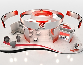 3D model low-poly Exhibition stand