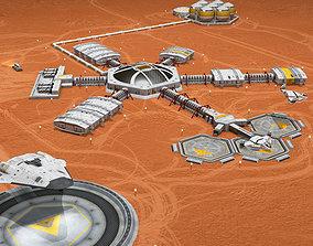 3D Moon or Mars base