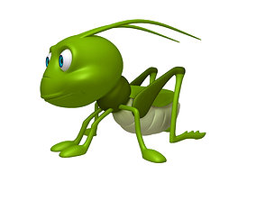 3D Grasshopper cartoon