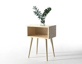 3D model Side Table with Eucalyptus
