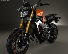 3D model Yamaha MT-09 2014