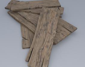 Wooden Boards 3D asset