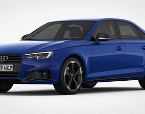 3D model Audi A4 2019 Detailed Interior