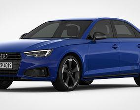 3D model Audi A4 2019 Detailed Interior