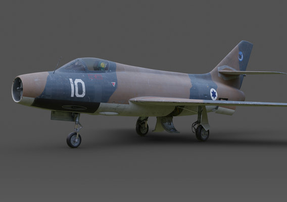 Mystere IV A N°10 of the 109th(The Valley)Squadron 1967.