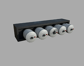 Electrical fuses - standard and damaged 3D asset