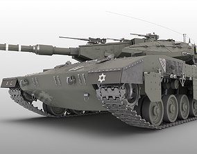 Merkava MBT Mk1 Mk2 Mk3 Mk4 tank medium 3D model