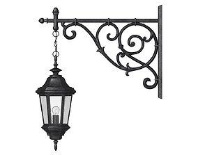 wall 3D model Antique Outdoor Lamp