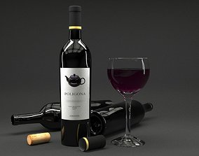 3D model Wine Bottle - 750cc