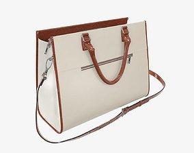 3D Woman briefcase shoulder travel bag handbag open