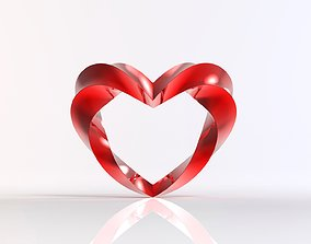 3D printable model Twisted Heart Sculpture Wall Hanger
