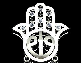 3D print model Hamsa The Hand Of Fatima Necklace