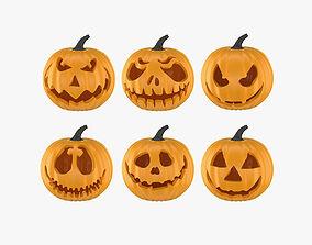 3D Halloween 6 Pumpkin