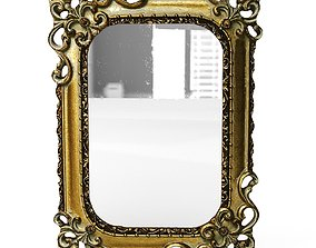 Antique Frame Mirror 6 3D model