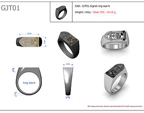 Signet ring fashion 3D print model