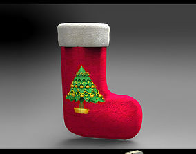 santa DL3D Christmas Sock-Stocking