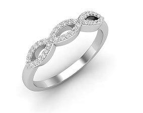 3D printable model Diamond Anniversary Wedding Band for 1