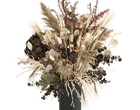 3D model Bouquet of dried flowers in a vase 173