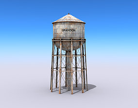 Water Tower 3D asset low-poly