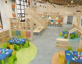 3D model Kids classroom 08