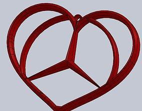 3D printable model Mercedes Benz Pendant