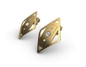 new 3D print model stud earring