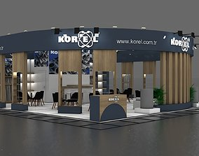 3D Exhibition Stall Size 11 m x 10 m Height 366