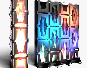Stage Decor 36 Modular Wall Column 3D