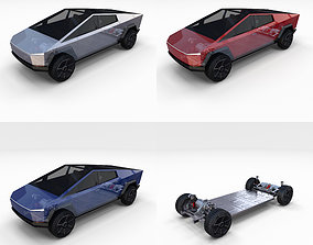 Tesla Cybertruck with Chassis Pack 3D