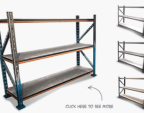 3D asset shelf rack low poly game ready