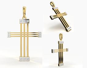 3D print model religiou-object JESUS CROSS DIAMOND PENDANT
