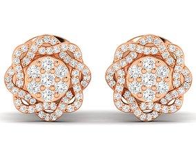 printable diamond Women earrings 3dm stl render detail
