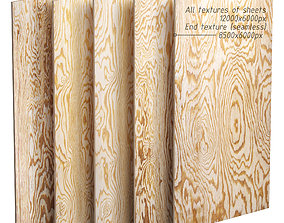 3D model A set of sheets of plywood v2 - 5 items