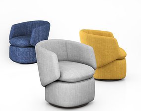 3D Crescent Swivel Chair by West elm interior