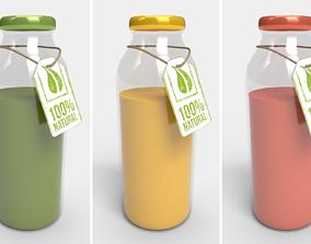 PBR Bottle Juice - Collection 3D model