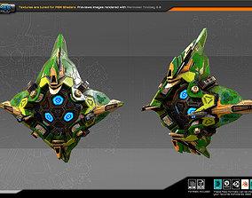 3D asset SF CYBORG Fighter KX4