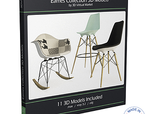 3D Eames Furniture Collection